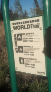 World Trail Warmup Directions